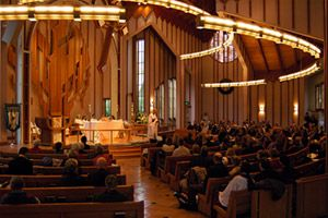 THE EPISOCOPAL PARISH OF ST. MATTHEW'S CHURCH-DURING A REGULAR SUNDAY SERVICE