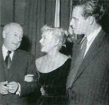 DeMILLE, BETTY & CHUCK AT OPENING OF GREATEST SHOW