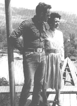 CHUCK & LYDIA AT THEIR NEW HOME:BEING BUILT('59)