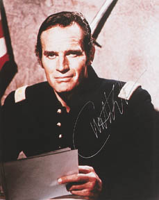 CHUCK AS MAJOR DUNDEE: AUTOGRAPHED PICTURE