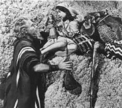 CHARLTON HESTON AS MOSES