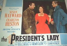 LOBBY CARD FROM THE PRESIDENT'S LADY (1953)